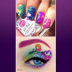 @fun.nails.love used my childish doddling from the @barbie #besuper eye-art as an inspiration for this cute and fun manicure.