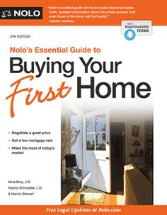 Nolo's Essential Guide to Buying Your First Home (book)   NOLO Law for All