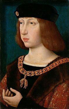 Maestro della Leggenda della Maddalena.  1500. Ritratto di Filippo il bello. KHM Wien