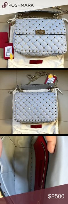 Valentino medium rockstud Spike Bag This one is a stunner. Valentino Spike  Rockstud in gray cfd80e17c4096