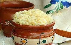 nakládané zelí Sauerkraut, Home Canning, Preserves, Pickles, Cabbage, Grains, Pizza, Rice, Pudding
