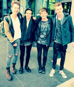 James, Brad, Connor and Tristan