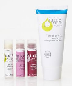 Take a look at this SPF 30 Oil-Free Moisturizer & Lip Trio Set by Juice Beauty