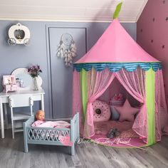 Details about teepee princess castle girl play tent kids fairy play house o Girls Play Tent, Toddler Play Tent, Kura, Girls Bedroom, Bedroom Decor, Bedrooms, Princess Room, Princess Castle, Pink Princess