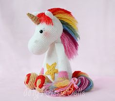 Make It: Rainbow Unicorn - Free Crochet Pattern #crochet #amigurumi #free #ravelry thanks so for share xox ☆ ★ https://www.pinterest.com/peacefuldoves/