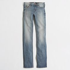 """J.Crew Factory - Factory Davidson wash straight and narrow jean with 31"""" inseam"""
