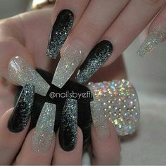 In look for some nail designs and ideas for your nails? Listed here is our list of 29 must-try coffin acrylic nails for fashionable women. New Year's Nails, Great Nails, Fabulous Nails, Gorgeous Nails, Cute Nails, Hair And Nails, Sexy Nails, Prom Nails, Bling Nails