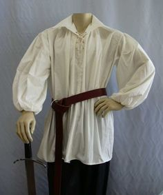 any poofy white shirt and a wide belt or sash, over dark pants and tall boots. pretty generic and easy. http://www.faireware.com/pics/Shirts/PirateElasticWhite.jpg