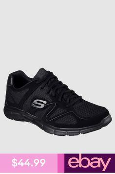 a731853bb7 Wide Fit Black Skechers Shoes Men's 58350 W Comfort Mesh Train Sport Memory  Foam
