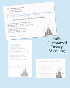 Elegant Disney Castle DIY Printable Wedding Invitation