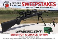 Enter for a chance to win a T/C® Compass® rifle in .204 Rug Package! https://experiences.wyng.com/campaign/?experience=59822b282b5c71503bbb4acf