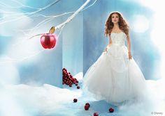 fairytale snow white wedding dress