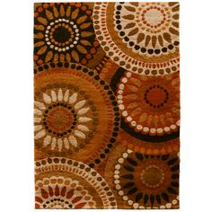 """I want this rug for my new house to go in my tv area! ;0)  Orian Rugs 7'10"""" x 10' Multicolor Merrifield Area Rug"""