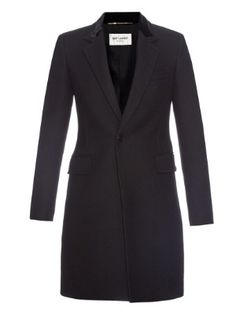 Chesterfield wool coat   Saint Laurent   MATCHESFASHION.COM