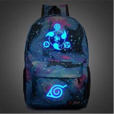 FREE SHIPPING Naruto Illuminating Hokage School Travel laptop Bag Canvas Backpack - Animetee - 12