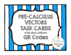For teachers- great activity that uses technology and reviews vectors. #vectors