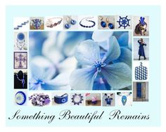 """""""Something Beautiful Remains: Great Gift Ideas in Blue"""" by paulinemcewen ❤ liked on Polyvore featuring Lazuli, rustic, vintage and country"""