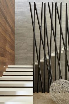 Modern Stair Railing, Staircase Railings, Modern Staircase, Home Stairs Design, Railing Design, Interior Stairs, Tropical House Design, Design Your Dream House, Stairs In Living Room