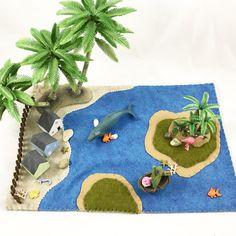 Islands in the Sea wool felt Playscape Play Mat by MyBigWorld2015
