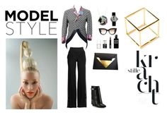 """""""Model Style"""" by dellaila on Polyvore featuring Salavetti, Comme des Garçons, Lord & Berry, Givenchy, Uslu Airlines, Dareen Hakim, Robert Piguet, Clerc, E L L E R Y and Bisjoux"""