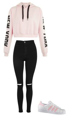 """School/Woman fashion❤"" by puskaseniko on Polyvore featuring Topshop and adidas"