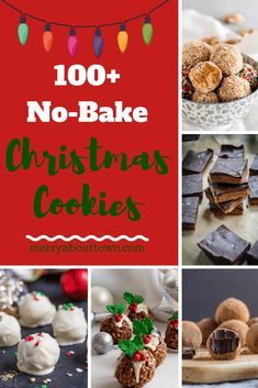 100 No-Bake Christmas Cookies to Try! No-bake Christmas cookies are the perfect way to save time this holiday season. We have 100 recipes with photos for you to try! Chocolate Protein Bites, Chocolate Oatmeal Cookies, Vegan No Bake Cookies, Baking Cookies, Bar Cookies, Poppy Seed Cookies, Cookie Dough Truffles, Holiday Desserts, Oreo Desserts