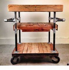 --Discover more about industrial bar cart. Simply click here to find out more___ Do not miss our web pages! Pipe Furniture, Industrial Furniture, Kitchen Furniture, Rustic Furniture, Luxury Furniture, Furniture Stores, Cheap Furniture, Diy Bar Cart, Bar Cart Decor