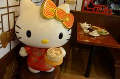 According to Sanrio, this is the first Hello Kitty restaurant of its kind in the whole word.