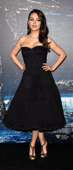 Mila Kunis on the red carpet in Dolce & Gabanna