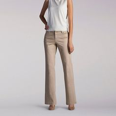 Lee Women's Curvy Fit Maxwell Trouser - Modern Series Pants (Size 6 Slim)