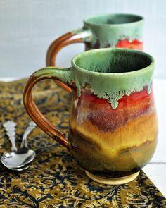 ceramic mug Beer Stein coffee cup tea mug for him por OneClayBead
