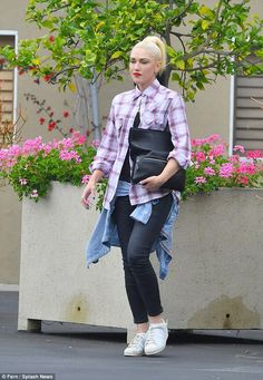 Somber: Gwen Stefani looked sad as she headed out to a baptism ceremony for her brother's son in LA on Saturday following Friday's shocking murder of The Voice alum Christina Grimmie
