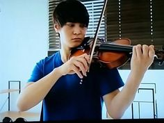 JooWon taking violin lessons in preparations for: Tomorrow Cantabile (내일도 간타빌레). JooWon (주원) as Cha Yoo Jin (차유진)