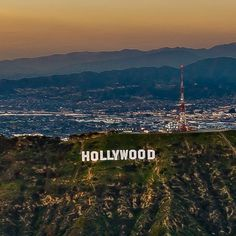Hollywood, California by copterpilot California Dreamin', Hollywood California, Los Angeles California, Hollywood Sign, Hollywood Hills, New York Pictures, City Of Angels, Los Angeles County, Dream City