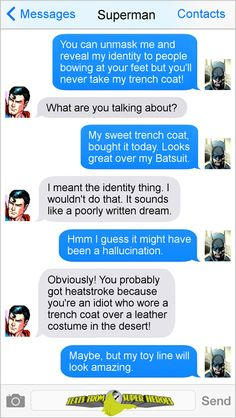35 Epic Batman And Superman Memes That Will Have You Laughing Like Crazy - South Herald Marvel Funny, Marvel Memes, Marvel Dc Comics, Funny Comics, Superhero Texts, Comic Text, Dc Memes, Batman And Superman, Comic Book Heroes