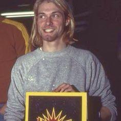 Kurt Cobain in Aberdeen, WA, US. 1990