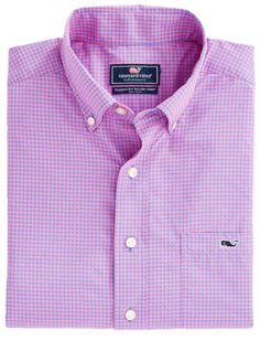 Vineyard Vines Ocean Echo Performance Classic Tucker Shirt- Bahama Breeze from Shop Southern Roots TX