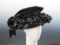 Mourning hat Bruat, Inc. Date: ca. 1915 Culture: American Medium: silk Dimensions: 6 x 17 1/2 in. (15.2 x 44.5 cm) Credit Line: Brooklyn Museum Costume Collection at The Metropolitan Museum of Art, Gift of the Brooklyn Museum, 2009; Gift of Mrs. Frederick H. Prince, Jr., 1967 Accession Number: 2009.300.1574