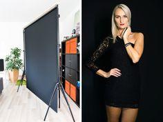 Lights Camera Action, Light Camera, Photography Equipment, Photo Backgrounds, Ikea Hack, Shoulder Dress, Bodycon Dress, Hacks, Black And White