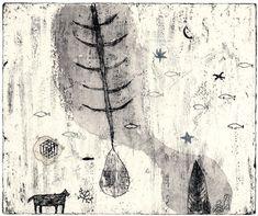 Kumi Obata / Refreshing Dream / 清々しい夢 / 245×290mm / 2008ボローニャ国際絵本展入選作品