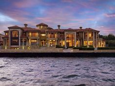 Mansions and Estates Mega Mansions, Mansions Homes, Dream Mansion, Luxury Homes Dream Houses, Dream Homes, Dream House Exterior, Waterfront Homes, My Dream Home, Future House