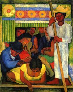 Diego Rivera,La Canoa Enflorada,1931, Col.Museo Dolores Olmedo,Xochimilco,Mexico