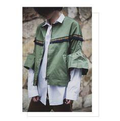Blazer with fills + oversize shirt