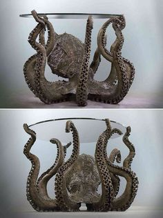 Octopus glass table