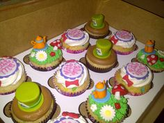 Mad Hatter Tea Party Cupcakes Alice and Wonderland