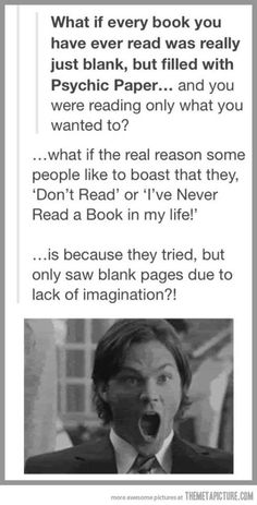 And why people only like certain books!