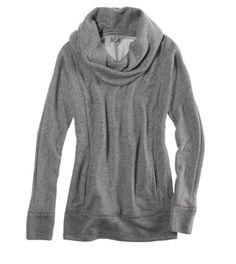 Sparkle cowl neck sweatshirt