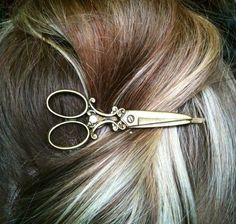 Very cool scissors hairclip
