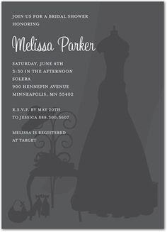 Brides Bridal Shower Invitations, Very Special Day In Charcoal Bridal Shower Invitations