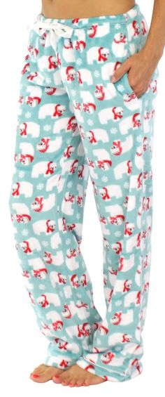 PajamaMania fleece pajama pants are made of plush fleece that will keep you warm all winter long - Fleece - Elastic waistband - Satin drawstring - Side pockets - Satin trim - Machine wash - Model is 5 Cozy Pajamas, Fleece Pajamas, Pjs, Pajamas For Teens, Pajamas Women, Satin Pyjama Set, Pajama Set, Christmas Pajama Pants, Pajama Pants Pattern